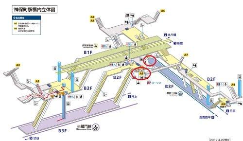 神保町メトロ構内(岩波ホール)