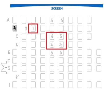 シネマカリテ スクリーン2  見やすい座席